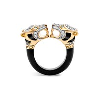 John Hardy 18K Yellow Gold Legends Macan Batu Black Onyx Ring with Diamonds and Swiss Blue Topaz | Bloomingdales's