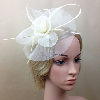 Lady Elegant Fascinator Hat Clips Hairpins Hair Accessories Wedding Church