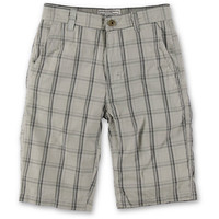 Free World Boys McSlick White Plaid Shorts