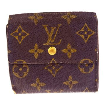 Auth LOUIS VUITTON Elise Trifold Wallet Purse Monogram Leather M61654 BN 03BA320