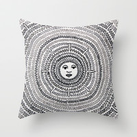 The Sun Throw Pillow by Condor