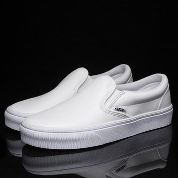One-nice™ Vans Slip-On Classic Leather Flats Sneakers Sport Shoes