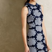 Rain Garden Sheath by Anthropologie Dark Denim