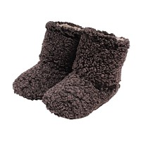 Sherpa Fleece Booties in Charcoal and Oatmeal by Live Oak