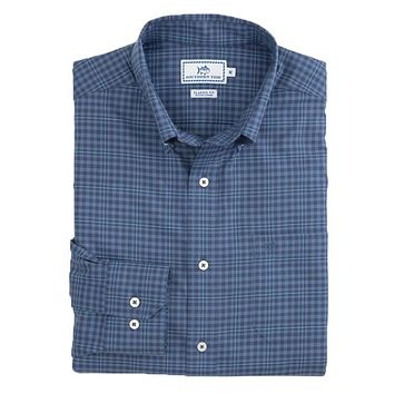 Appaloosa Gingham Sport Shirt in Colony Blue by Southern Tide
