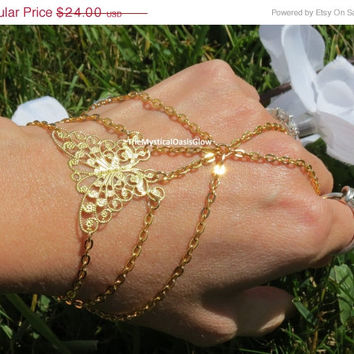 Sized Gold Hand Chain, Butterfly, Slave Bracelet Ring, Finger Bracelet, New Beginnings, Butterfly Bracelet, Hand Bracelet, Body Jewelry