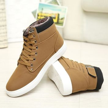 Men Warm Winter Leather Footwear