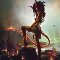 """Fire Nymph"" - Art Print by James wolf strehle"