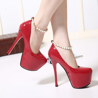 Waterproof Pointed Toe Water Proof High Heel Shoes = 4814715396