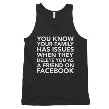 Facebook Family Issues Graphics Classic tank top (unisex)