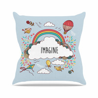 "KESS Original ""Imagine"" Fantasy Illustration Outdoor Throw Pillow"