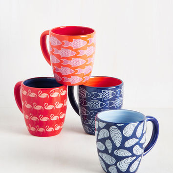 Oh, Shell Yeah! Mug Set | Mod Retro Vintage Kitchen | ModCloth.com