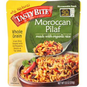 Tasty Bite Rice - Organic - Moroccan Pilaf - Whole Grain - 8.8 Oz - Case Of 6