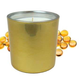 Gold Amber and Patchouli Scented Soy Jar Candles