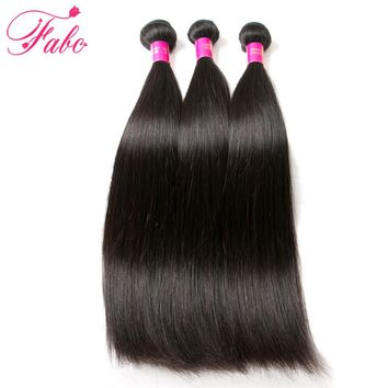 Fabc Hair Brazilian Straight Hair Weave 1 Piece Remy 100% Human Hair Extention Natural Color 8-28 Can Buy 3 or 4 Bundles