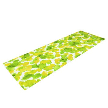 "Ebi Emporium ""Giraffe Spots - Lemon Lime"" Green Yellow Yoga Mat"