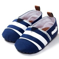 Nautical Striped Baby Shoes