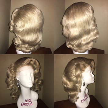 Shoulder Length Fingerwave Lacefront Drag Wig