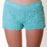 MINT CROCHET SHORTS @ KiwiLook fashion