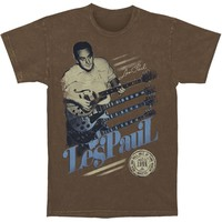 Les Paul Men's  Vintage T-shirt Brown