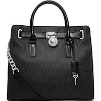 MICHAEL Michael Kors Signature Hamilton North/South Tote - Black