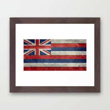 The State flag of Hawaii - Vintage version Framed Art Print by Bruce Stanfield