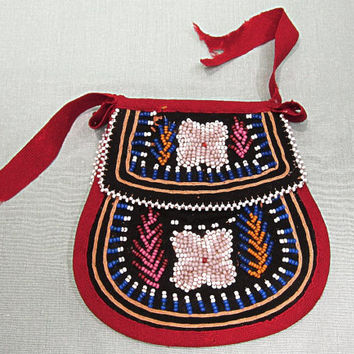 Native American Beaded Bag Purse Pouch