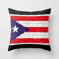 Puerto Rican flag Throw Pillow by Bruce Stanfield | Society6