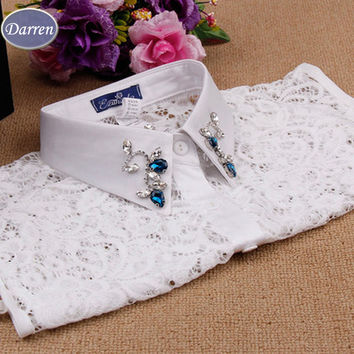 The new women's fashion lace shirt collar women fake Dickie