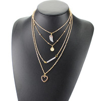 Gift Shiny Stylish Jewelry New Arrival Ladies Crystal Necklace [6464819905]