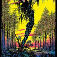 Swamp Mirage Black Light Poster