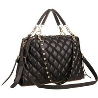 MG Collection Mizu Quilted Shopper Tote Convertible Shoulder Bag, Black, One Size