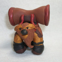 Dota2 Earthshaker Miniature Polymer Clay Figurine - Fimo Clay - Handsculpted Dota 2 Hero Sculpture - Collectible Dota Ceramic Figure