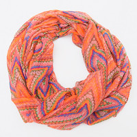 Ivy Infinity Scarf - Coral - One