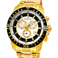 Grand Prix Noir Gold Tone Watch