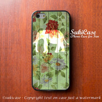IPHONE 5S CASE ELEPHANT on Vintage Floral iPhone Case iPhone 5 Case iPhone 4 Case Samsung Galaxy S4 Cover iPhone 5c Soft Case iPhone 4s