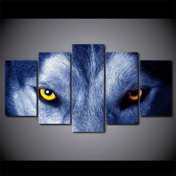 Wolf Eyes Wall Art on Canvas Print room decor print poster