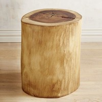 Natural Tree Stump Accent Table
