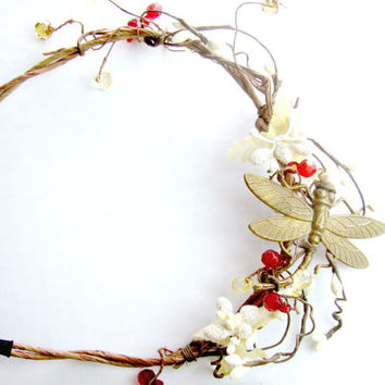 Dragonfly Vine Crown Headband