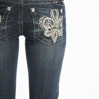 Miss Me Fleur di lis bootcut jeans - up to size 34! (27)