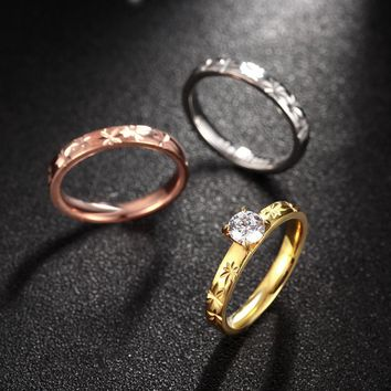 3 In 1 Vintage New Designer Gold My Orders Stainless Minimalist Couple Rings For Women Male Wedding Band Engagement Ring Jewelry