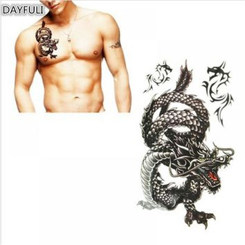 Delicate Cool 3D Chinese Dragon Temporary Tattoo Stickers Disposable Waterproof Sweat For Women Men Fake Tatoo Sexy Body Art