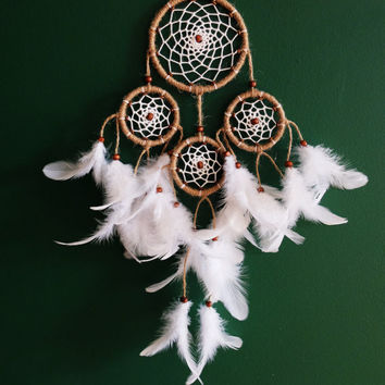Dreamcatcher, Boho Dreamcatcher, Handmade Dream Catcher, Boho Wall Hanging, Boho Home Decor, Feathers , Gypsy, Natural Dreamatcher, Nursery