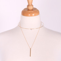 Drop On By Necklace