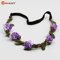 Hair Accessories Girls Headbands Rose Flowers Crown Wedding Hair Accessory Flores Headband for Women Headwear