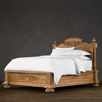French Empire Bed Sandblasted
