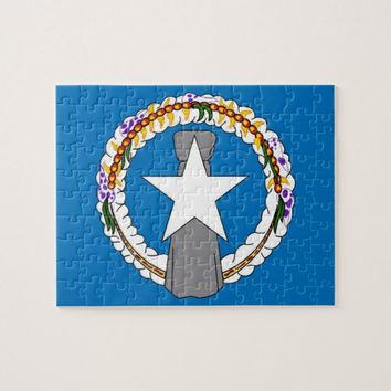 Puzzle with Flag of Northern Mariana Islands
