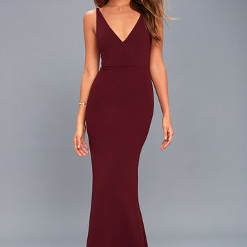 Melora Plum Purple Sleeveless Maxi Dress