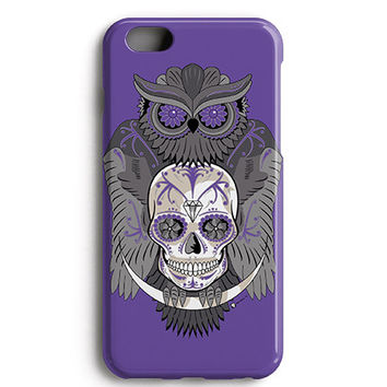 Purple Owl Skull Phone Case