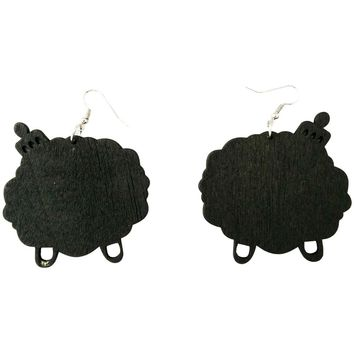 Afro Love earrings | Natural hair earrings | Afrocentric earrings | jewelry | accessories